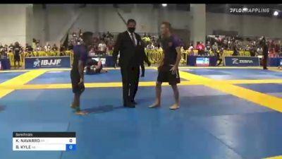 KRYZ NAVARRO vs BRANDEN KYLE 2021 American National IBJJF Jiu-Jitsu Championship