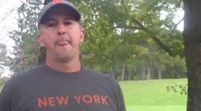 Syracuse coach Chris Fox post-race