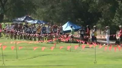 Mid race action of boy's seeded race at 2012 Stanford Invitational
