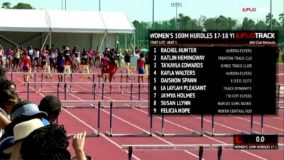 2018 AAU Club Nationals Highlight: 17-18yo Rayniah Jones 14.16 100m Hurdles