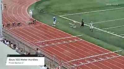 Youth Boys' 100m Hurdles, Finals 2 - Age 14