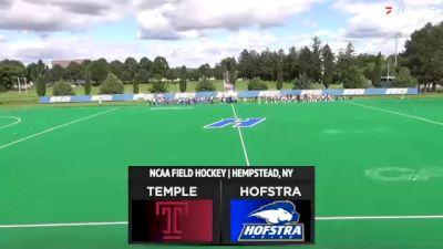 Replay: Temple vs Hofstra   Sep 3 @ 3 PM