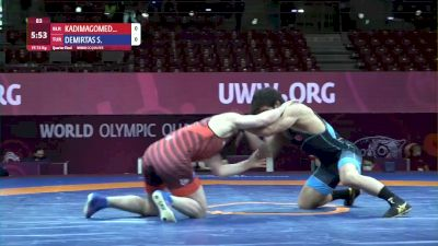 74 kg Magomedkhabib Kadimagomedov, BLR vs Soner Demirtas, TUR