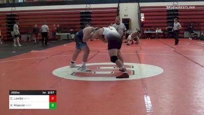 285 lbs Consolation - Colin Lawler, NC State vs Keaton Kluever, North Carolina