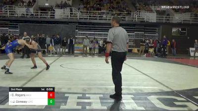 170 lbs 3rd Place - Caden Rogers, Malvern Prep vs James Conway, Loyola-blakefield
