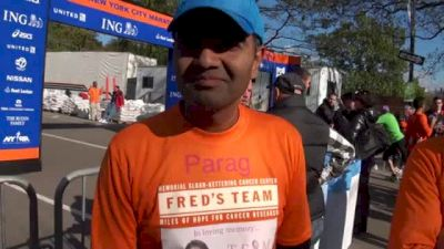 Parag running in memory of his wife who lost battle with cancer 6 months ago
