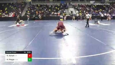 184 lbs Quarterfinal - Ryan Schott, Coe College vs Nick Rogge, Augsburg University