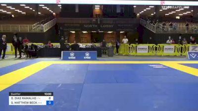 DIEGO DIAS RAMALHO vs GARRETT MATTHEW BECK 2021 Pan Jiu-Jitsu IBJJF Championship