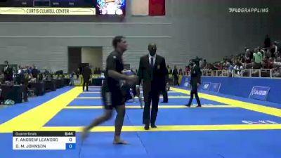 DEVHONTE M. JOHNSON vs FELLIPE ANDREW LEANDRO SILVA 2021 World IBJJF Jiu-Jitsu No-Gi Championship
