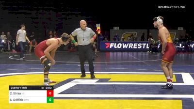 165 lbs Quarterfinal - Chase Straw, Iowa State vs Shane Griffith, Stanford