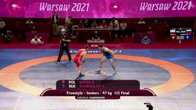 97 kg Semifinal - Radoslaw BARAN, POL vs Alikhan ZHABRAILOV, AZE