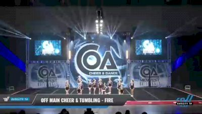 Off Main Cheer & Tumbling - Fire [2021 L3 Youth - D2 Day 2] 2021 COA: Midwest National Championship