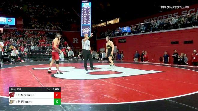 141 lbs Consolation - Tristan Moran, Wisconsin vs Parker Filius, Purdue