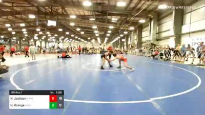 126 lbs Prelims - Nate Jackson, Ragin Raisins Niagara vs Nate Kresge, Emmaus Hornets