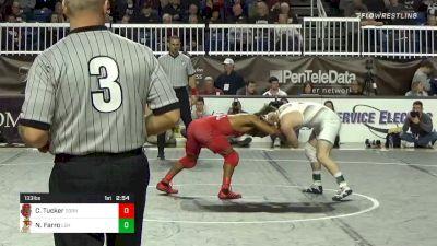 133 lbs Final - Chas Tucker, Cornell vs Nick Farro, Lehigh
