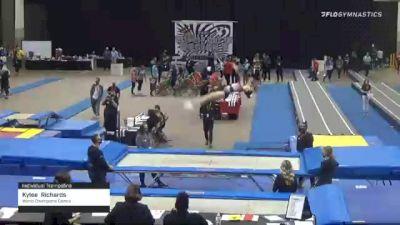 Kylee  Richards  - Individual Trampoline, World Champions Centre  - 2021 Region 3 T&T Championships