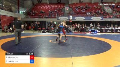 60 lbs Rr Rnd 1 - Randon Miranda, New York Athletic Club vs Taylor LaMont, Sunkist Kids Wrestling Club