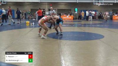 Quarterfinal - DeAndre Nassar, Cleveland State-Unattached vs Max Wohlabaugh, Clarion-Unattached
