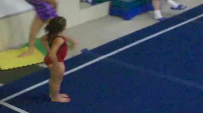 7 year old Chavala doing backtuck