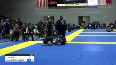 EDWIN OCASIO vs CARLOS ALBERTO OLIVEIRA DA SILVA 2021 World IBJJF Jiu-Jitsu No-Gi Championship