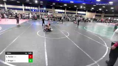 100 lbs Rr Rnd 2 - Cash Parker, 208 Badgers vs Jessiah Briggs, Cal Grapplers