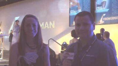 Milesplit and Jenny Simpson at the Bowerman Awards