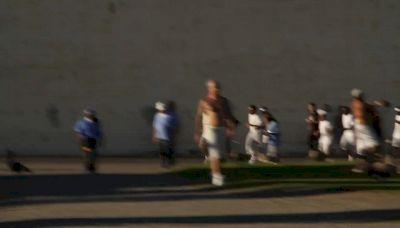 San Quentin 1000 Mile Club runs warm up laps