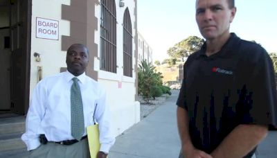 Kevin Selby get processed at San Quentin State Prison gate