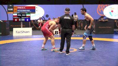 74 kg Quarterfinal - Kamil Rybicki, POL vs Mostafa Hosseinkhani, IRI