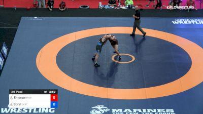 125 kg 3rd Place - Austin Emerson, Nebraska vs John Borst, SERTC-VT