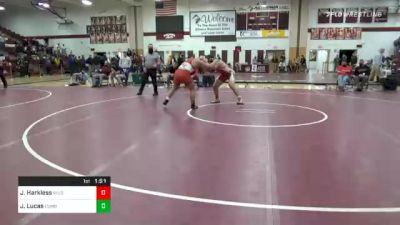 215 lbs Final - Josh Harkless, Wilson West Lawn vs Jake Lucas, Cumberland Valley