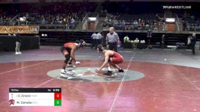 157 lbs 3rd Place - Colin Cronin, Temple University vs Michael Canada, University Of Nevada - Las Vegas