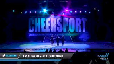 Las Vegas Elements - Windstorm [2021 L2 Junior - D2 - Small - B Day 2] 2021 CHEERSPORT National Cheerleading Championship