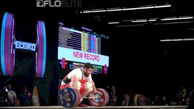 Lasha Talakhadze (GEO, +105) Sets New World Record Snatch At 220kg
