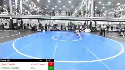 140 lbs Final - Gavin Drexler, Crass Trained: Weigh In Club vs Nicholas Kunstek, Blair