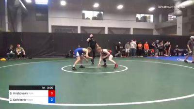 61 kg Consolation - Sam Hrabovsky, Purler Wrestling Academy vs Cullan Schriever, Hawkeye Wrestling Club