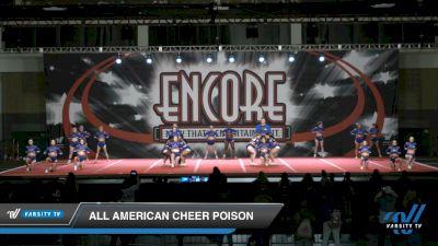 All American Cheer Poison [2021 L4.2 Senior Coed - D2 Day 2] 2021 Encore Championships: Charlotte Area DI & DII