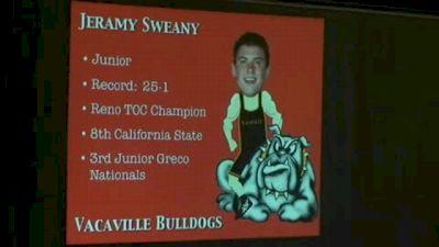 195 F, Jeramy Sweany (VAC) vs. Matt Weiss (CLO)
