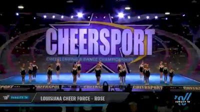 Louisiana Cheer Force - Rose [2021 L1 Junior - Small - B Day 2] 2021 CHEERSPORT National Cheerleading Championship