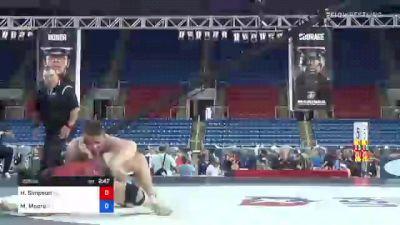 285 lbs Consi Of 4 - Hayden Simpson, Oklahoma vs Matthew Moore, Colorado