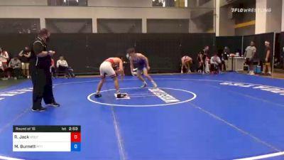 65 kg Prelims - Ryan Jack, Wolfpack Wrestling Club vs Michael Burnett, Pittsburgh Wrestling Club