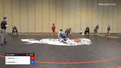 92 kg Prelims - Jacob Warner, Hawkeye Wrestling Club vs Andrew Davison, Cliff Keen Wrestling Club