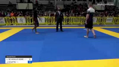LUCAS DE ARAUJO GOMES vs JOHN B GUTTA 2021 Pan IBJJF Jiu-Jitsu No-Gi Championship