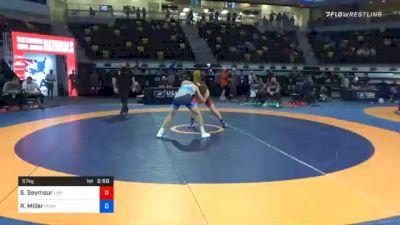 57 kg Semifinal - Sheldon Seymour, Lehigh Valley Wrestling Club vs Ryan Miller, Pennsylvania RTC
