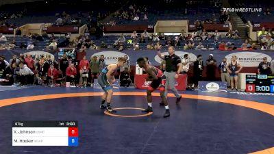 67 kg Consolation - Xavier Johnson, Marines vs Michael Hooker, Army WCAP