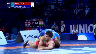 82 kg Final 3-5 - Mohammad Aziz Naghousi, Iran vs Mykyta Alieksieiev, Ukraine