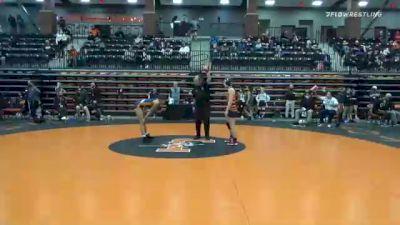 116 lbs Quarterfinal - Josie Bartishofski, Jamestown vs Serenity Durham Goree, Midland
