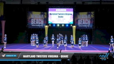 Maryland Twisters Virginia - Quake [2021 L5 Senior - Large Day 1] 2021 ACDA: Reach The Beach Nationals