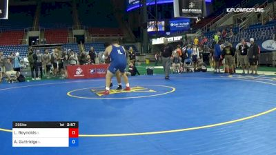 285 lbs Cons 8 #2 - Lloyd Reynolds, Illinois vs Aydin Guttridge, Illinois