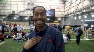 Brigetta Barrett jumps to win and remotivating after Olympics